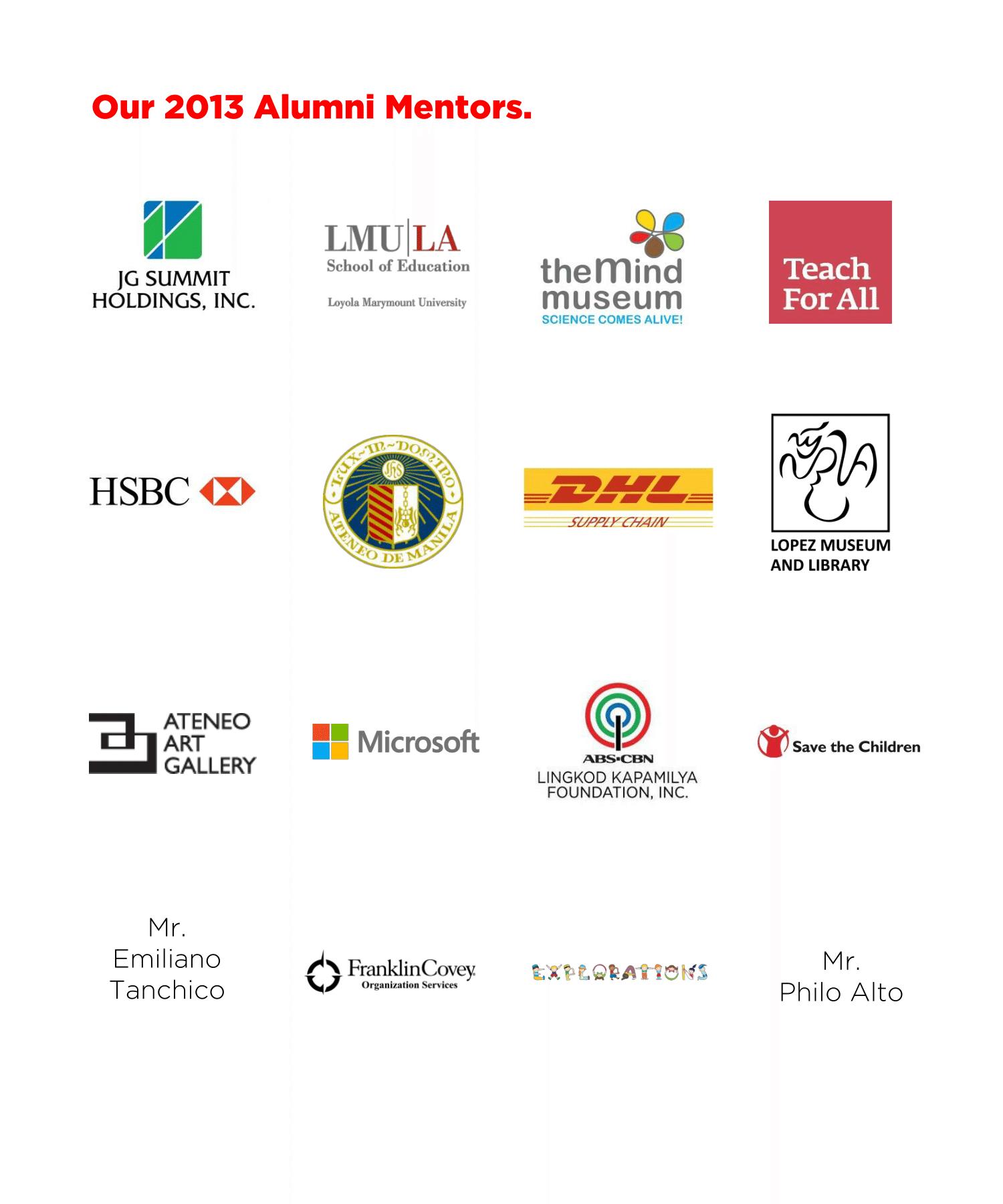 Alumni Mentors 2013
